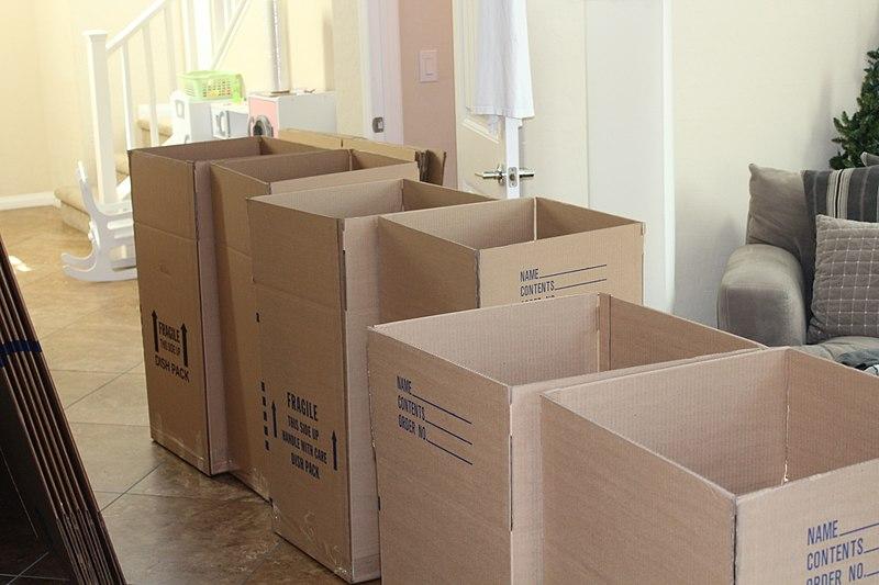 Cartons fait pour le déménagement international